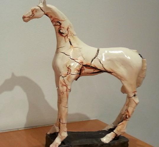 Horse-Porcelain-33x28x10cm]