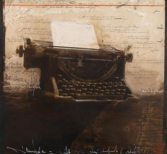 Typewriter-100x100cm