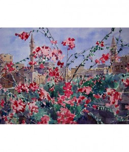 Downtown-Bougainvillea-53x73cm