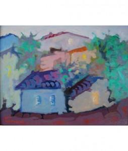 Toscany Houses 55x70cm